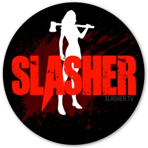 Slasher girl vinyl sticker